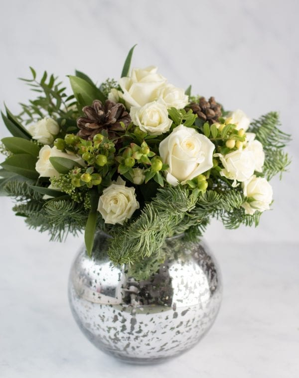 Winter White vase arrangement