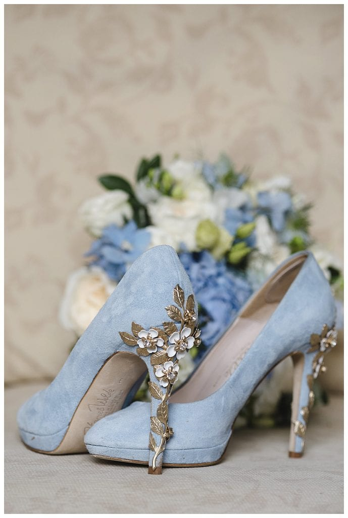 Cotswold Marquee Wedding Blue wedding shoes