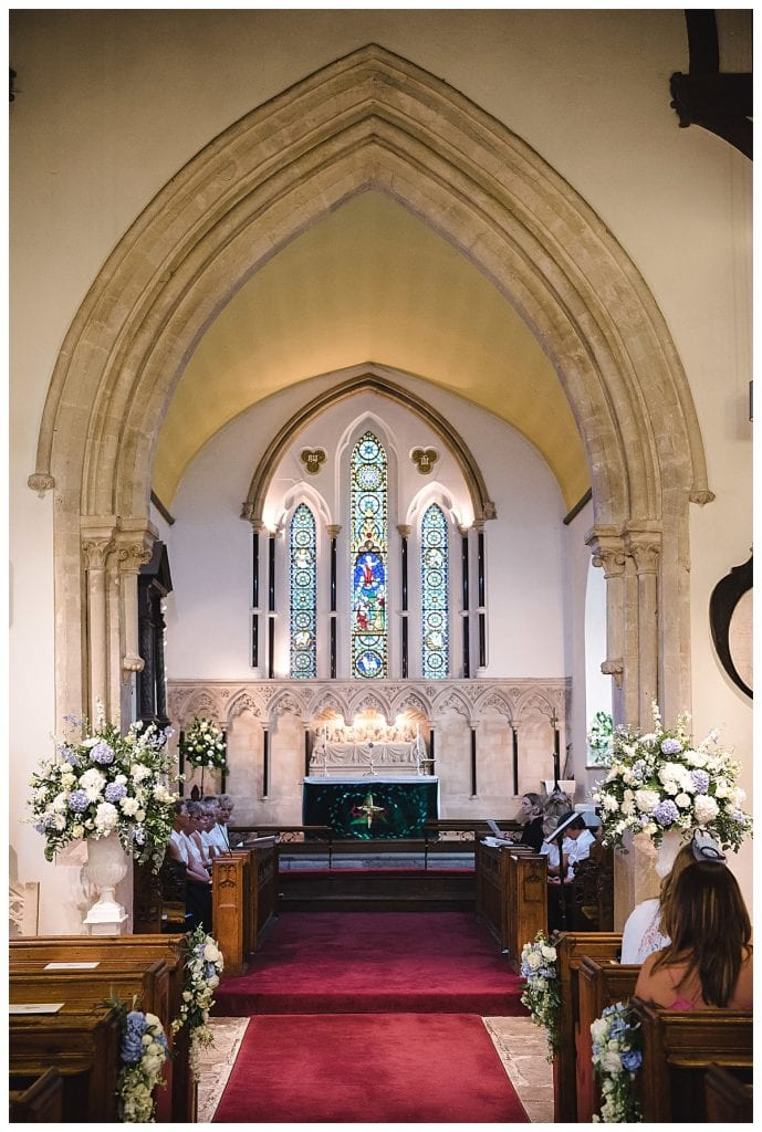 Cotswold Marquee Wedding Church flowers