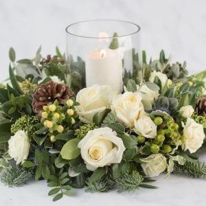 Winter White Christmas Arrangement