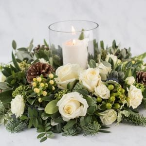 Winter White Christmas Arrangement