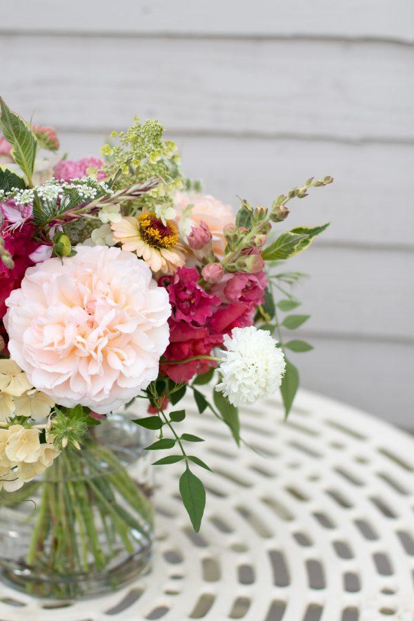 Wedding table flowers, Bristol