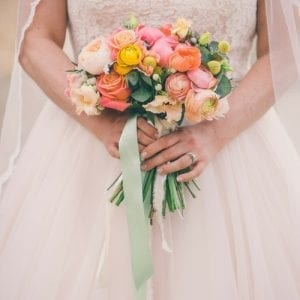 coral spring wedding in the cotswolds
