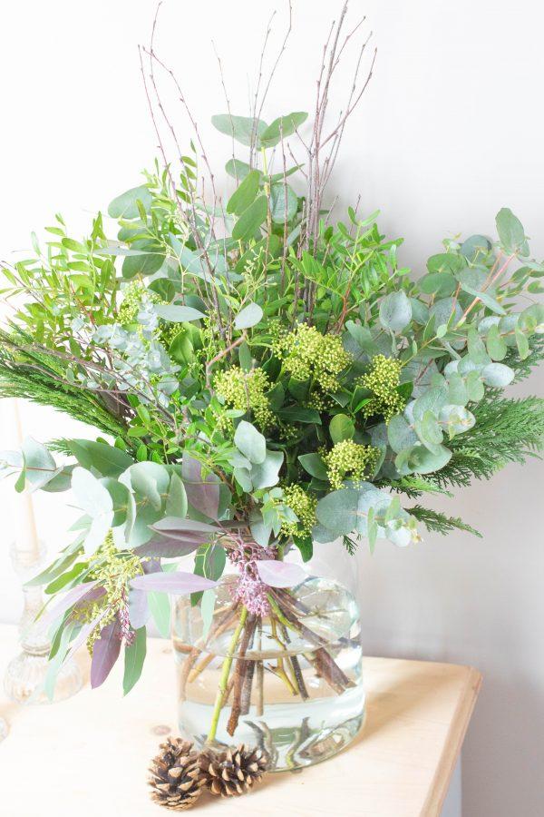 Festive foliage bouquet