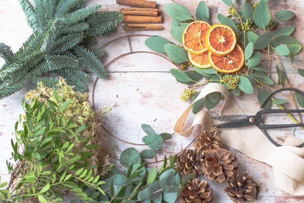 Christmas Door Wreath Kit