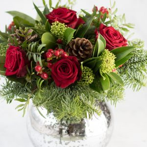 Christmas Flowers Traditional Christmas Vase Arrangement