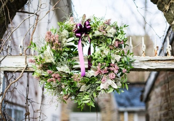Christmas wreath Workshop South Gloucestershire