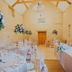 Cotswold Wedding Venue - The Kingscote Barn High Gold Stands