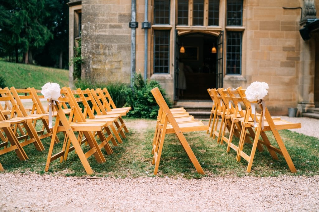 Coombe Lodge Summer wedding chair decoration