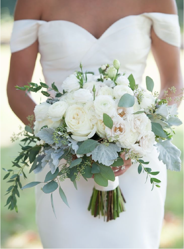 Pintrest image of wedding bouquet