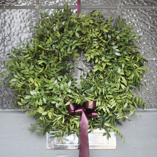 Evergreen Christmas Door Wreath for sale in Bristol