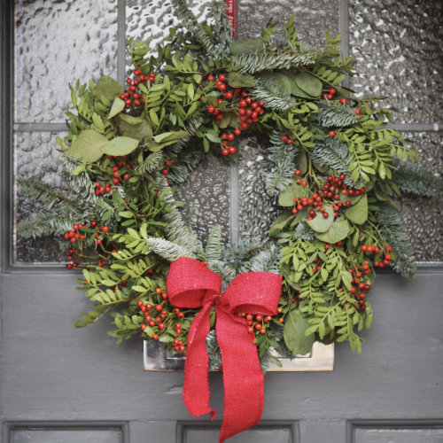 Christmas door wreath for sale in Bristol