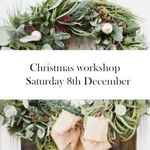 Christmas wreath workshop in Bristol